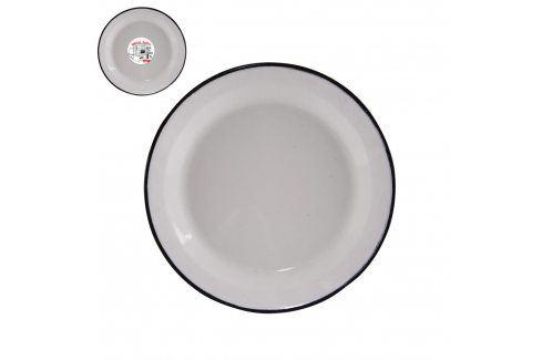 Talíř smalt mělký bílý 24 cm  ORION Talíře, misky