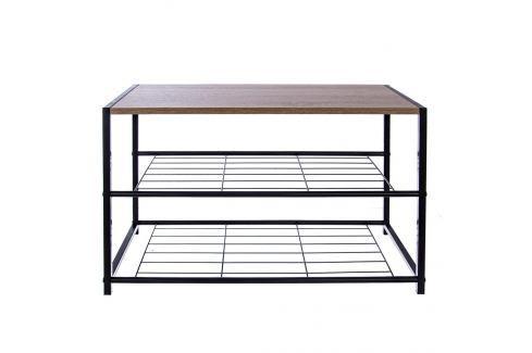 Botník kov/dřevo 2 patra ORION Botníky, židličky