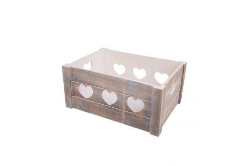 Bedýnka dřevo dekorace A SRDCE 31x21x14 cm ORION Skladovací boxy