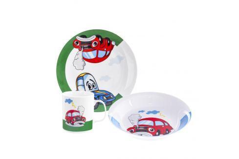 Sada jídelní porc. dětská AUTO 3 ks ORION Talíře, misky