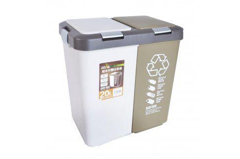 Koše na tříděný odpad, 2x10 l ORION Odpadkové koše