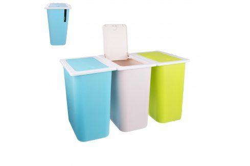 Koš odp. na tříděný odpad 13 l, 3 ks ORION Odpadkové koše