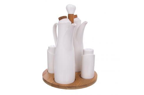 Dochucovací souprava porc./bambus 4+1 WHITELINE ORION Kořenky, mlýnky
