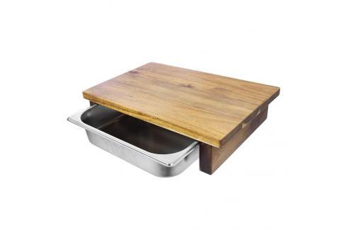 Prkénko bambus 42x29 cm+zásobník nerez ORION Prkénka, podložky