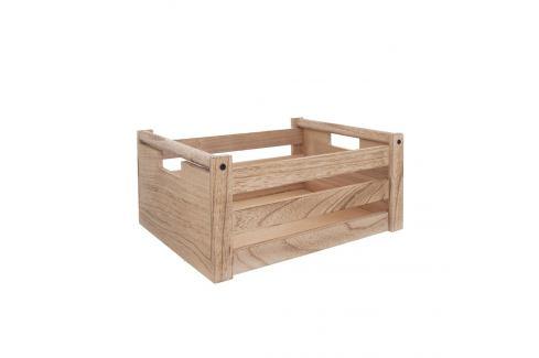 Bedýnka dřevo dekorace A NATURAL 26x16x12 cm ORION Skladovací boxy