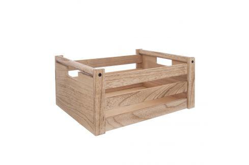 Bedýnka dřevo dekorace A NATURAL 31x21x14 cm ORION Skladovací boxy