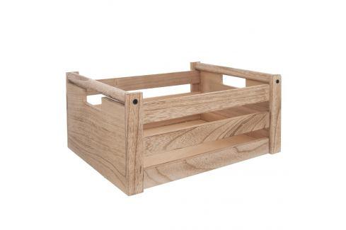 Bedýnka dřevo dekorace A NATURAL 36x26x16 cm ORION Skladovací boxy