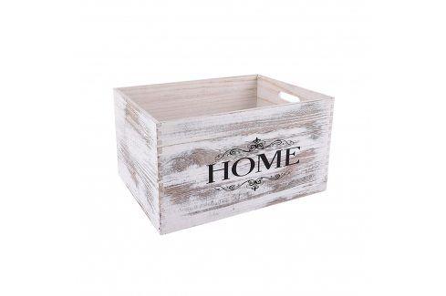 Bedýnka dřevo dekorace B 37x27 cm ORION Skladovací boxy