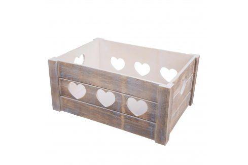 Bedýnka dřevo dekorace A SRDCE 36x26x16 cm ORION Skladovací boxy