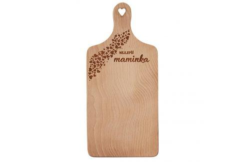 Prkénko rukojeť dřevo MAMINKA 30x14 cm ORION Prkénka, podložky