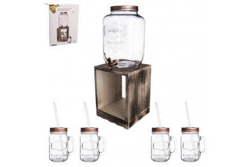 Láhev sklo 8,8 l+kohoutek+stojan 4+1 ORION Zásobníky na vodu