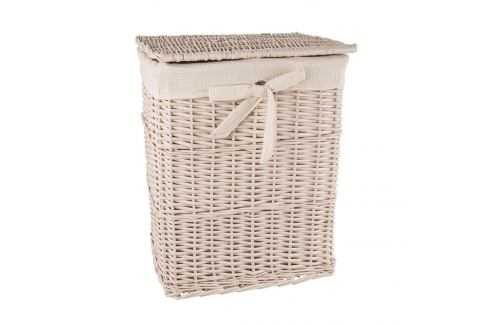 Koš na prádlo proutí/bavlna 37x27x49 cm BÉŽOVÝ ORION Prádelní koše