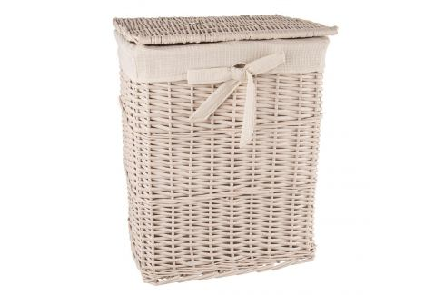 Koš na prádlo proutí/bavlna 45x35x56 cm BÉŽOVÝ ORION Prádelní koše