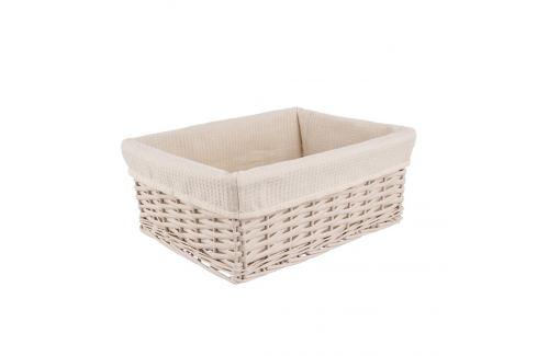 Košík proutí/bavlna 29x19x12 cm BÉŽOVÝ ORION Prádelní koše