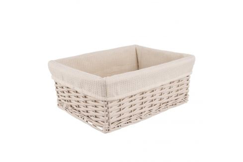 Košík proutí/bavlna 34,5x25x14 cm BÉŽOVÝ ORION Prádelní koše