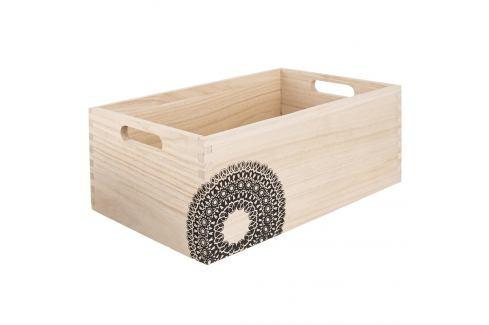 Bedýnka dřevo MANDALA 31x21x13 cm ORION Skladovací boxy