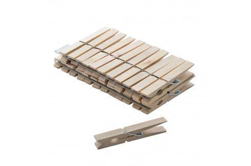 Kolíčky prádelní dřevo 24ks ORION Sušení, žehlení a praní prádla