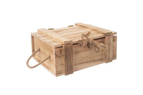 Truhla dárková dřevo 36x26x16 cm ORION Skladovací boxy