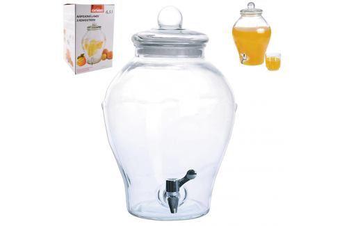 Láhev sklo+kohoutek APPLE 6,5 l ORION Zásobníky na vodu