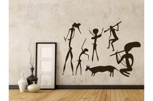 Samolepka na zeď Jeskynní lidé 001 Jeskynní lidé