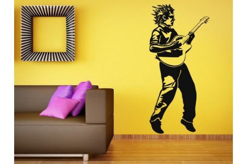 Samolepka na zeď Kytarista 001 Kytarista