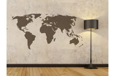 Samolepka na zeď Mapa světa 001 Mapa světa