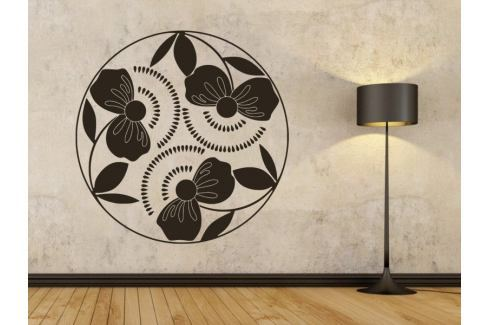 Samolepka na zeď Poupata 001 Ornamenty z rostlin