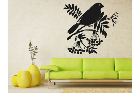 Samolepka na zeď Ptáci na větvích 003 Ptáci na větvi