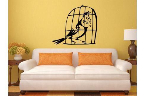 Samolepka na zeď Ptáci v kleci 002 Ptáci