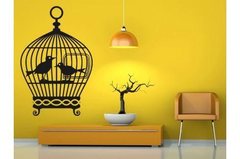 Samolepka na zeď Ptačí klec 001 Ptáci
