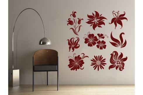 Samolepka na zeď Sada květin 001 Květy