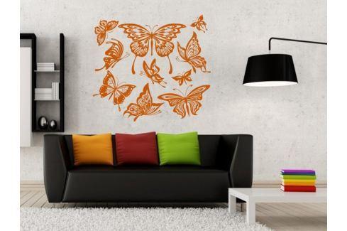 Samolepka na zeď Sada motýlů 001 Motýl