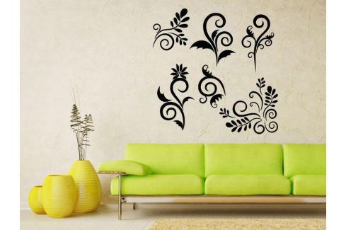 Samolepka na zeď Sada ornamentů 001 Ornamenty z rostlin