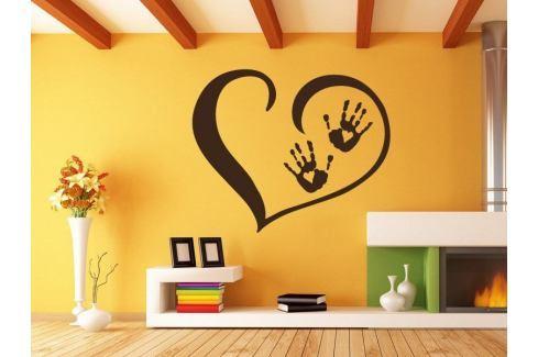 Samolepka na zeď Srdce s dlaněmi 001 Srdce
