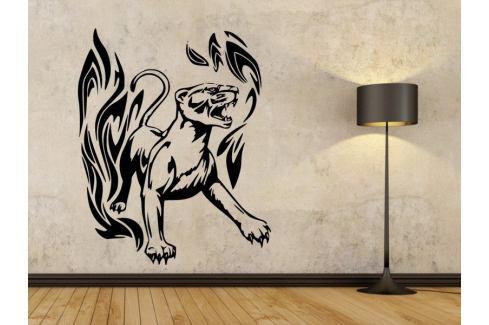 Samolepka na zeď Tygr s plameny 002 Tygr