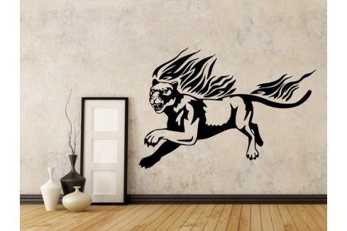 Samolepka na zeď Tygr s plameny 003 Tygr