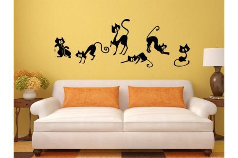 Samolepka na zeď Kočička 004 Kočička