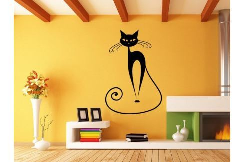 Samolepka na zeď Kočka 007 Kočka
