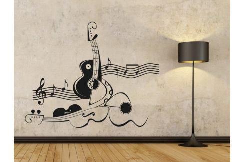 Samolepka na zeď Kytara 011 Kytara
