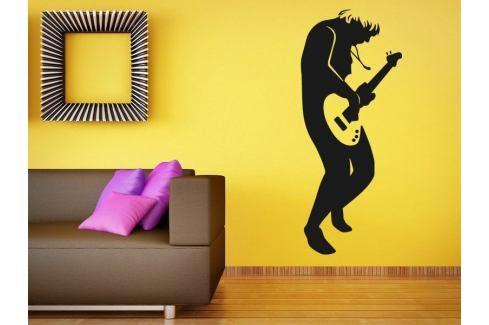 Samolepka na zeď Kytarista 008 Kytarista