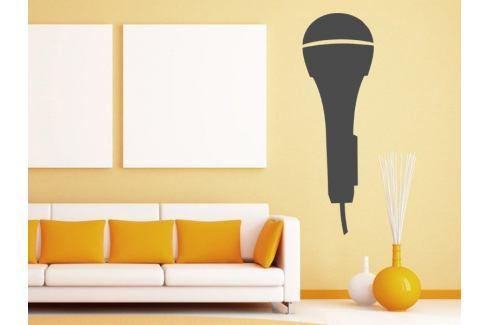Samolepka na zeď Mikrofon 001 Hudba