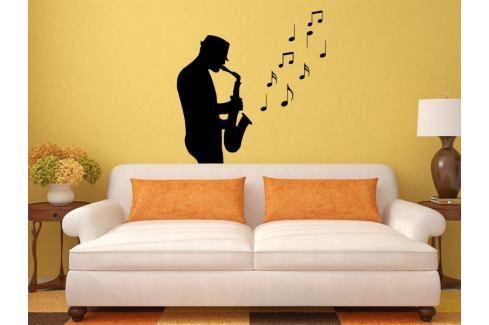 Samolepka na zeď Saxofonista 001 Saxofonista