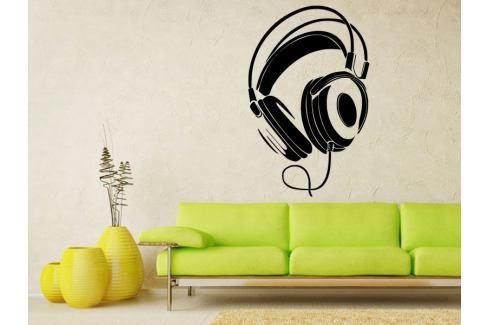 Samolepka na zeď Sluchátka 001 Sluchátka