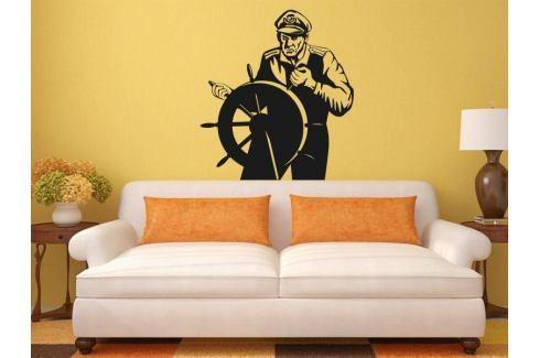 Samolepka na zeď Kapitán 001 Kormidlo