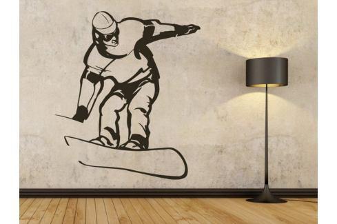 Samolepka na zeď Snowboardista 006 Snowboardista