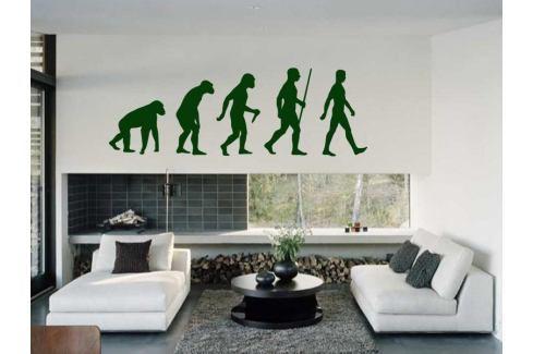 Samolepka na zeď Evoluce 001 Postavy