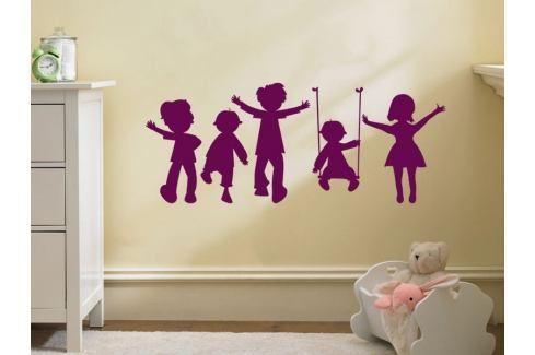 Samolepka na zeď Hravé děti 002 Děti
