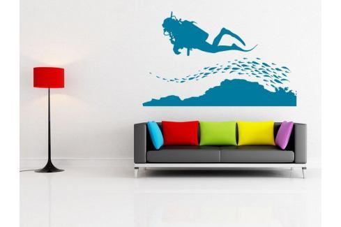 Samolepka na zeď Potápěč 002 Potápěč