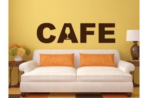 Samolepka na zeď Nápis Cafe 0001 Nápisy
