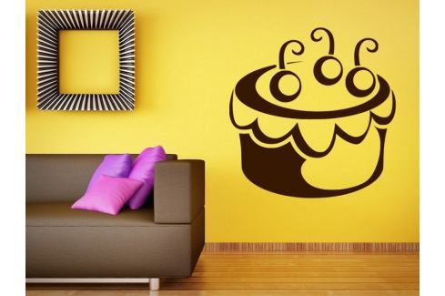 Samolepka na zeď Cupcake 0009 Dort